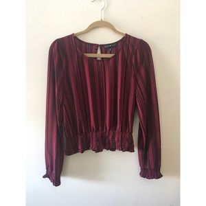 Burgundy Cropped Blouse